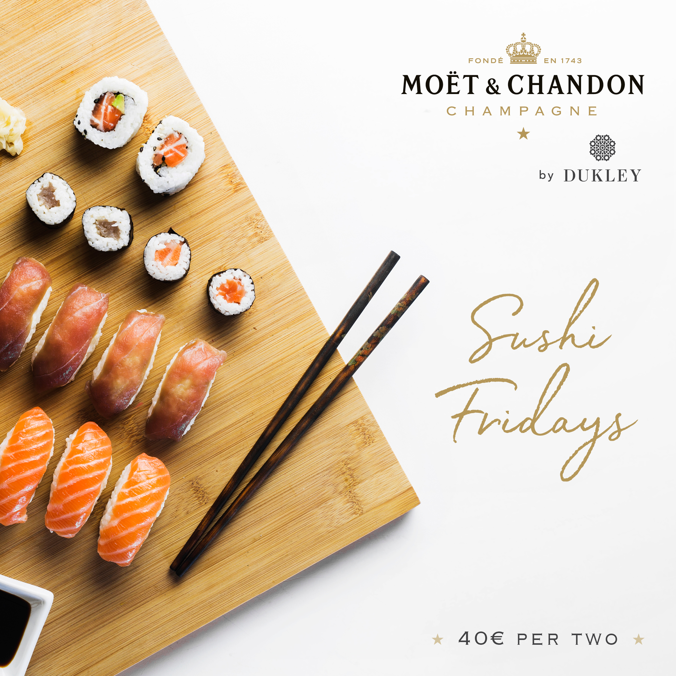 Sushi Fridays at Moët & Chandon Beach
